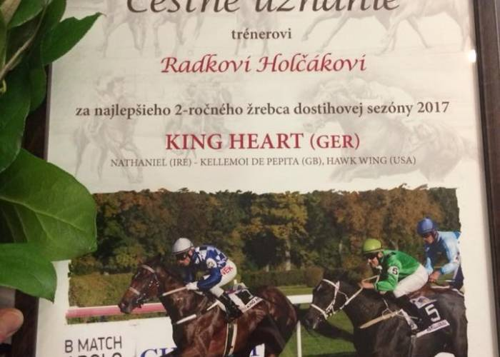 King Heart nejlepší dvouletý hřebec na Slovensku